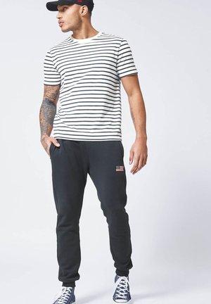 ELBA - T-shirt basic - white/navy