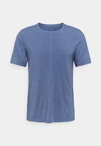 Nike Performance - DRY YOGA - Camiseta básica - midnight navy/ashen slate - 4