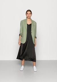 JUST FEMALE - CLEAR SINGLET DRESS - Denní šaty - black - 1