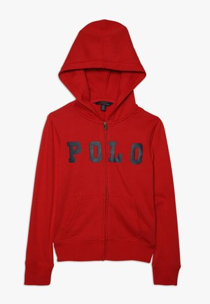 ATLANTIC TERRY ZIP UP - Hoodie - red