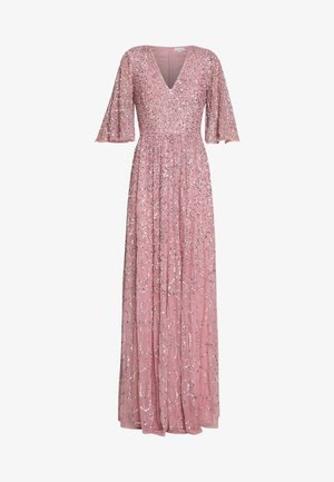FRONT CAPE SLEEVE DRESS - Occasion wear - pink