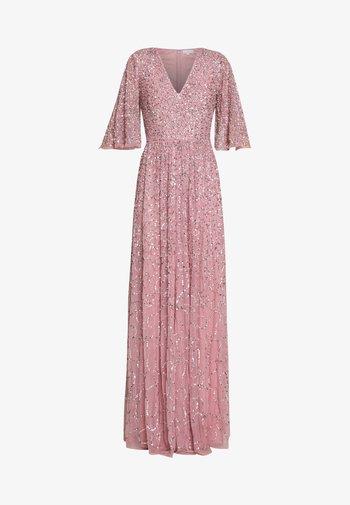 FRONT CAPE SLEEVE DRESS - Vestido de fiesta - pink