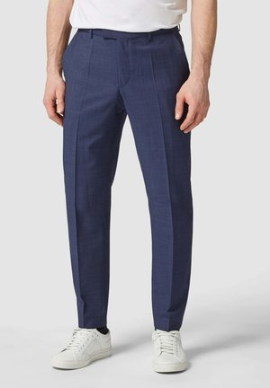 MIT FEINEM WEBMUSTER MODELL SHARP - Suit trousers - dunkelblau