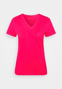 Tommy Hilfiger - NEW VNECK TEE - Basic T-shirt - bright jewel - 4