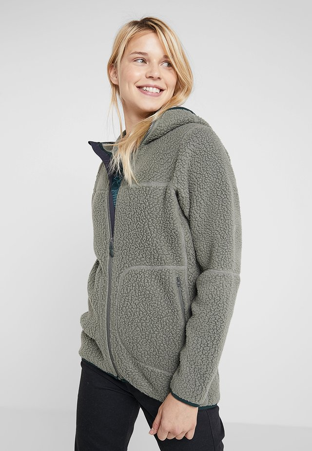 PILE HOOD WOMEN - Fleecetakki - agave green