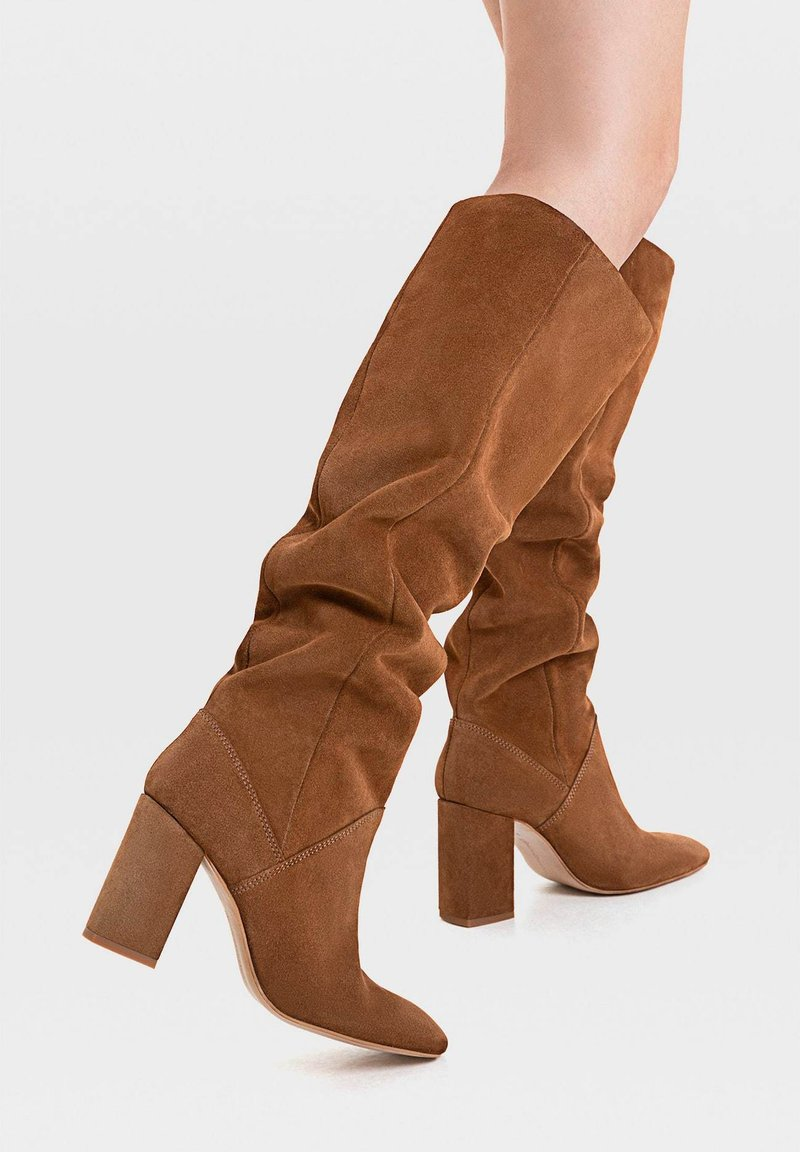 Stradivarius - High heeled boots - brown