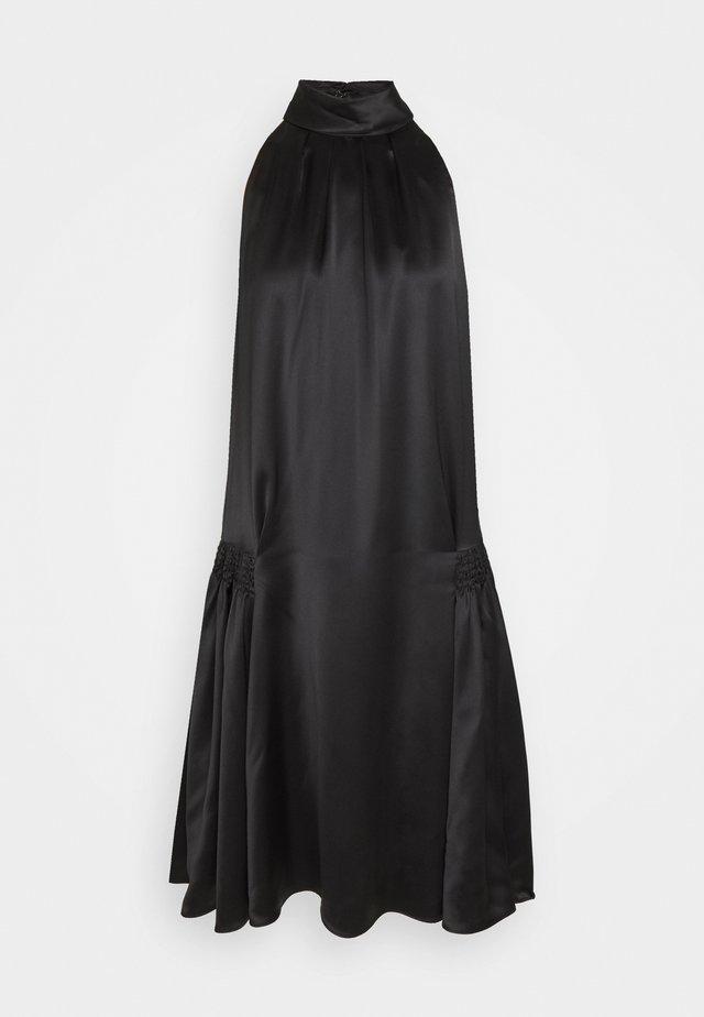 SMOCKED HIP DRESS - Cocktailkleid/festliches Kleid - black