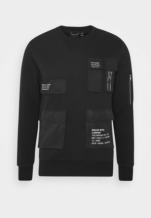 Sweatshirt - jet black/white