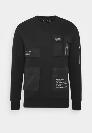 Sweatshirt - jet black/white