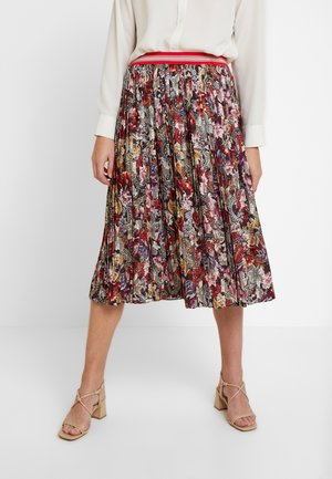 PLISSEE SKIRT PRINTED - A-line skjørt - cherry red
