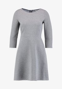 TOM TAILOR DENIM - SKATER DRESS ROUND - Sukienka z dżerseju - middle grey melange - 6