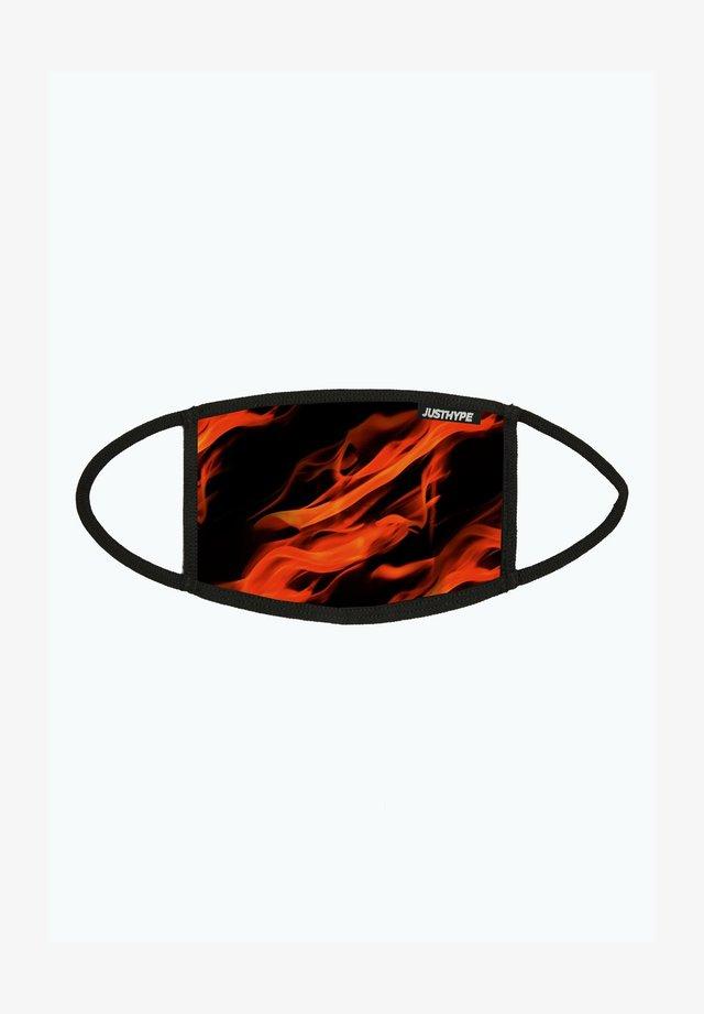 Stoffen mondkapje - black/red