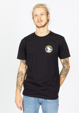 SPACE GULL - Print T-shirt - black