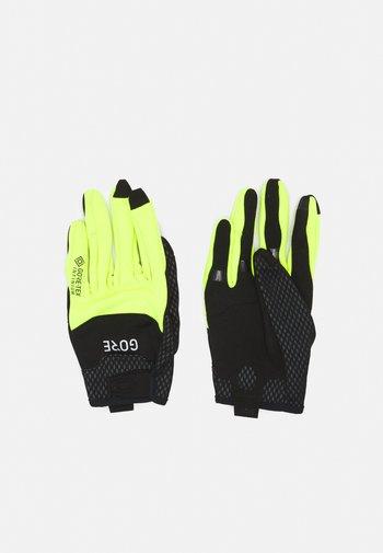 GLOVES UNISEX - Fingerhansker - black/neon yellow