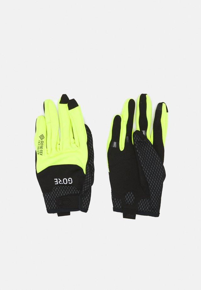 GLOVES UNISEX - Handschoenen - black/neon yellow