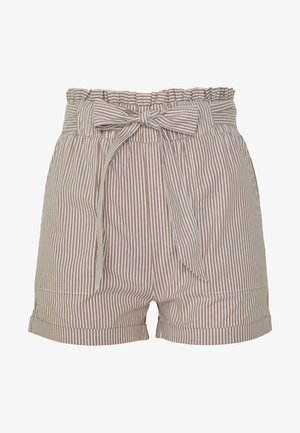 ONLSMILLA STRIPE BELT - Shorts - toasted coconut
