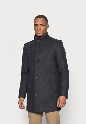 COAT WITH STAND UP COLLAR - Short coat - blueish grey