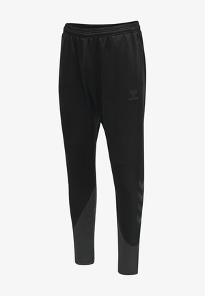 ACTION TRAINING  - Tracksuit bottoms - black/asphalt