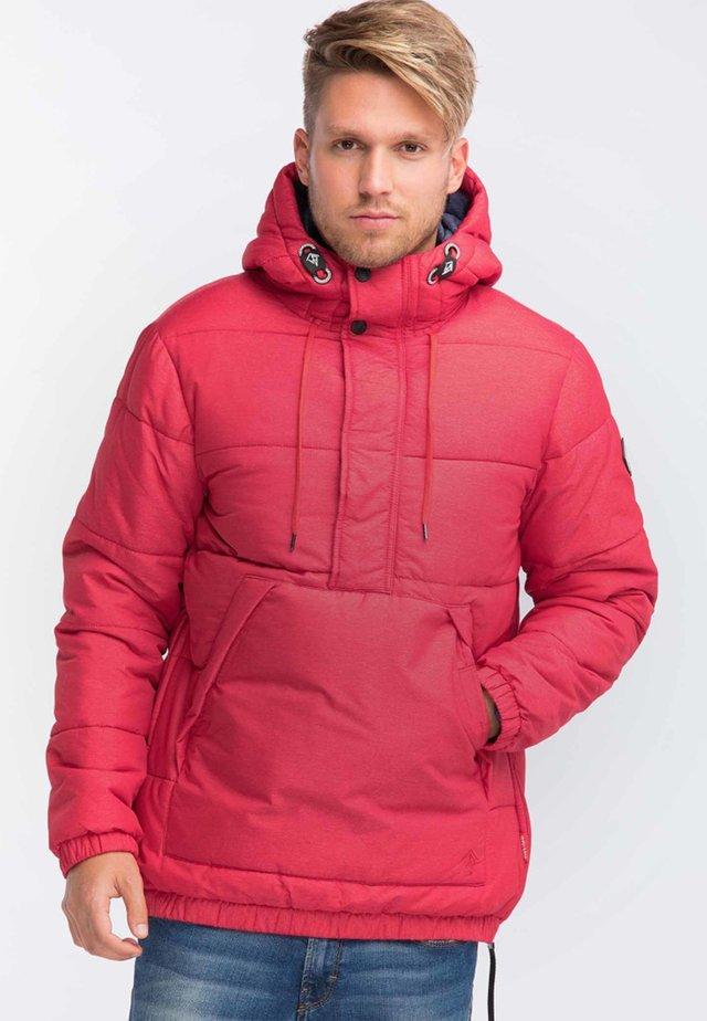 Winter jacket - mottled dark red