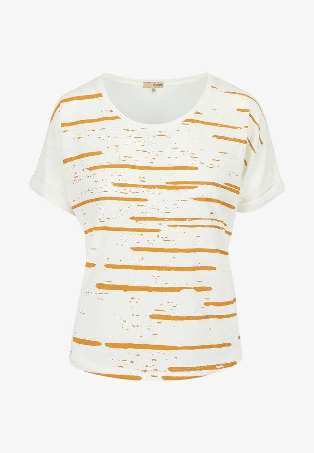 DUZ COMETA - T-shirt imprimé - natural yellow