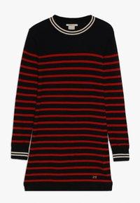 Scotch & Soda - DRESS IN YARN DYED STRIPE - Jumper dress - red/black - 0
