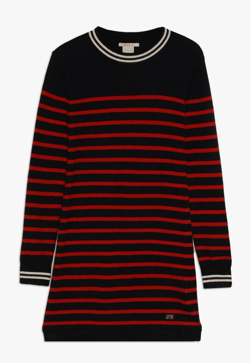 Scotch & Soda - DRESS IN YARN DYED STRIPE - Jumper dress - red/black
