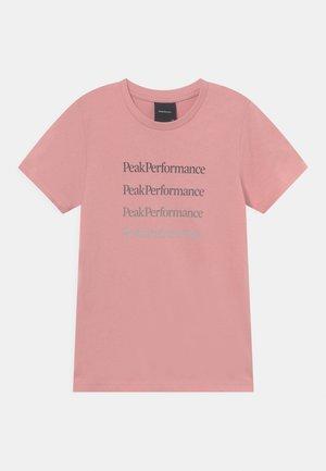 GROUND TEE UNNISEX - Print T-shirt - warm blush