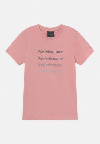GROUND TEE UNNISEX - T-shirt imprimé - warm blush