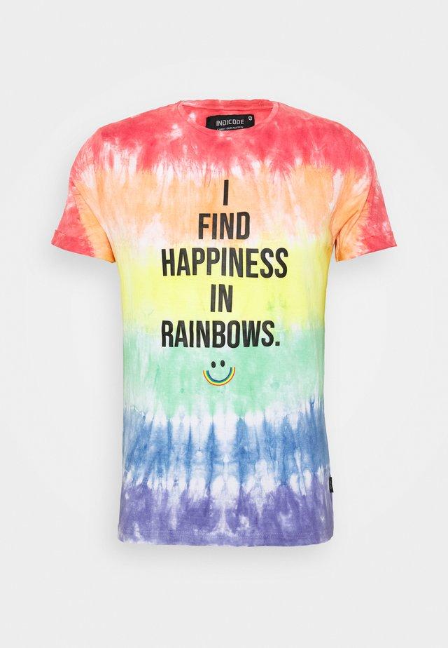 UNISEX PRIDE ODONELL - T-shirt print - rainbow