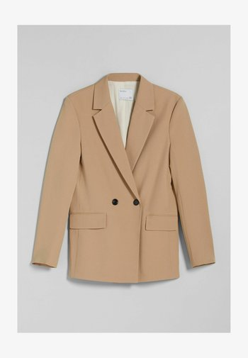 MIT KNÖPFEN  - Short coat - camel