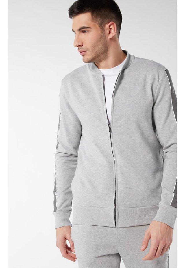 veste en sweat zippée - grigio melange