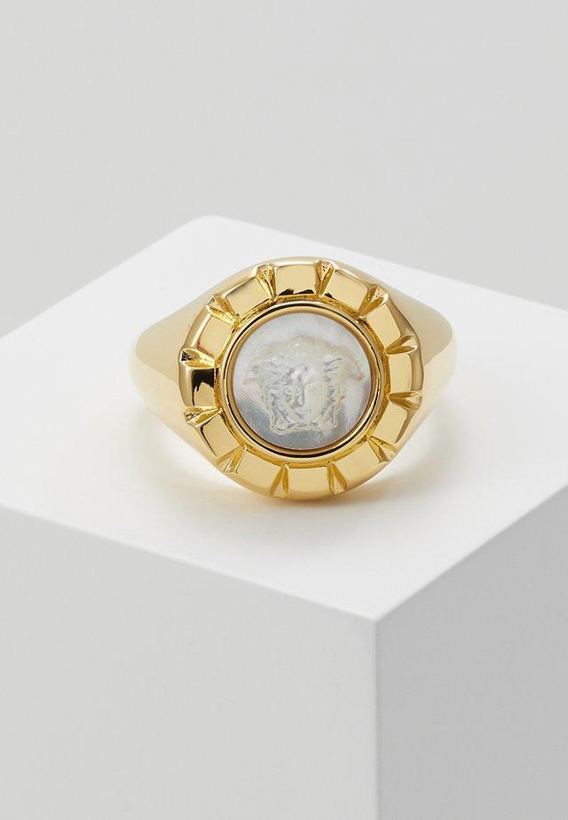 Ring - bianco/oro caldo