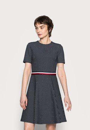 GLOBAL SHORT DRESS - Day dress - blue