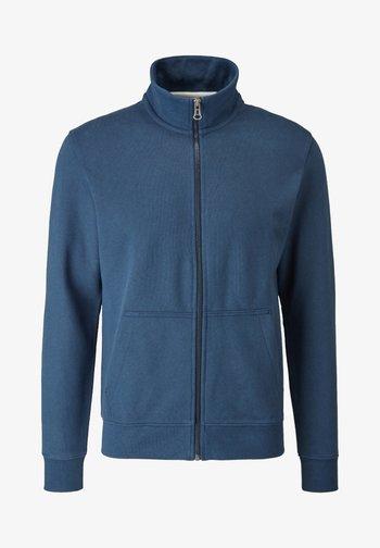 Zip-up sweatshirt - blue melange