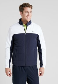 Lacoste Sport - TENNIS JACKET - Outdoorjacka - navy blue/white - 0