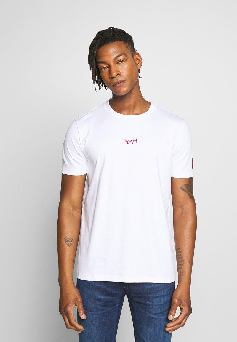 HUGO - DURNED - Print T-shirt - white