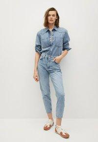 Mango - Jeans Tapered Fit - medium blue - 1