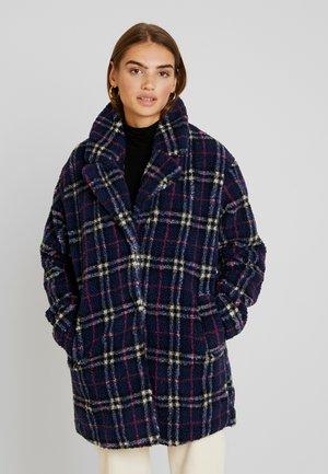 Winter coat - dark blue/ multi-coloured