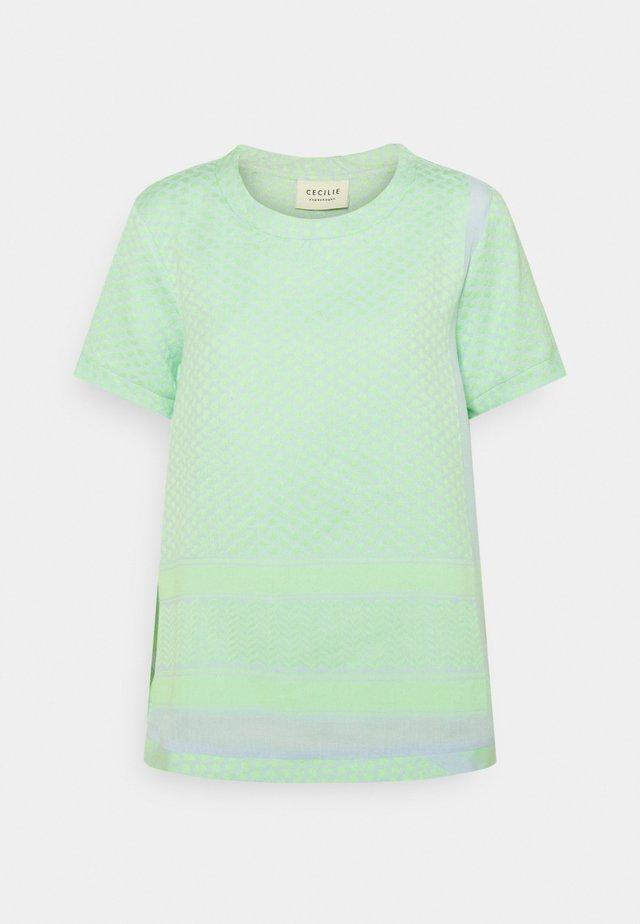 T-shirt print - ballad blue