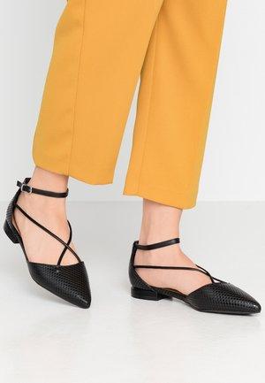 BRANDY - Ankle strap ballet pumps - black