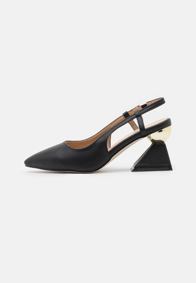 WIDE FIT JASMINE - Tacones - black