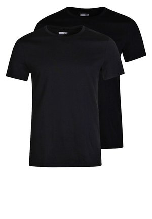 2 PACK - T-shirt - bas - black