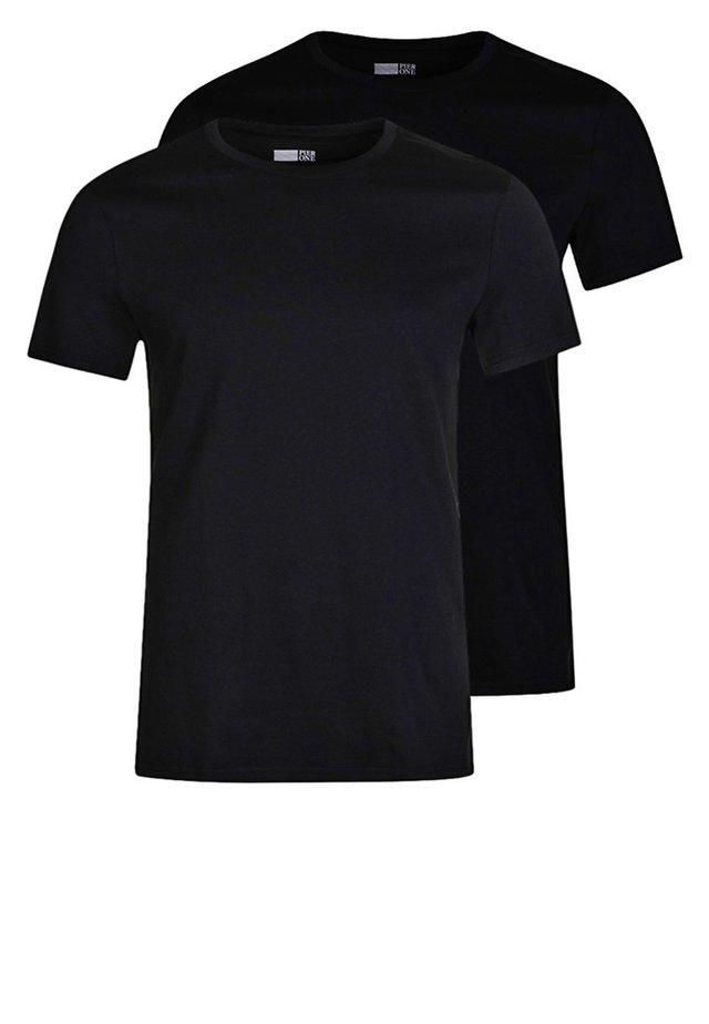 2 PACK - Jednoduché triko - black