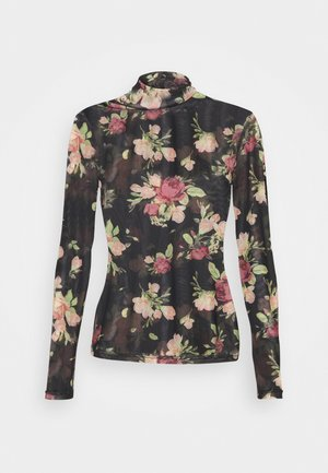 Long sleeved top - black/pink
