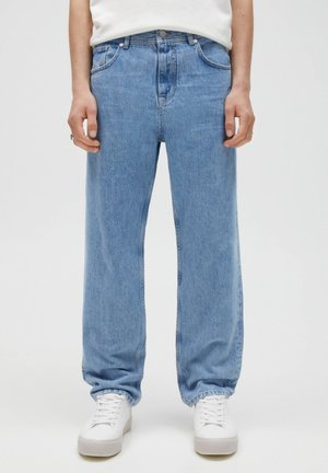 Straight leg jeans - mottled blue