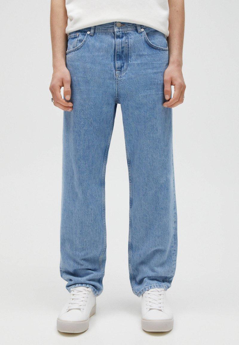 PULL&BEAR - Jeans Straight Leg - mottled blue