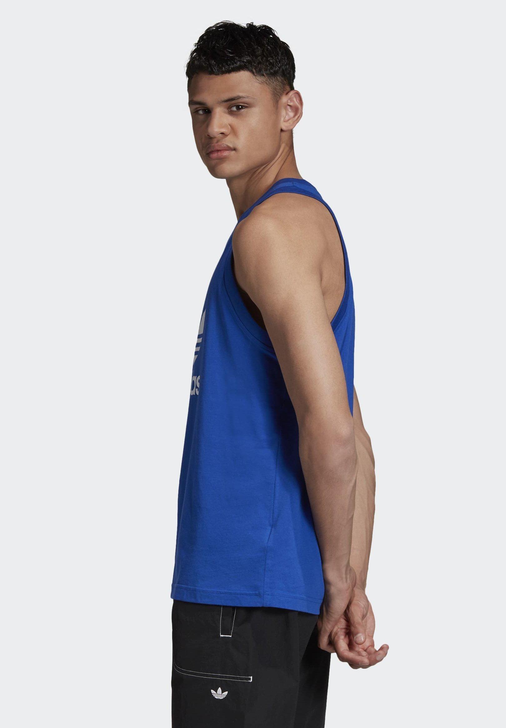 adidas Originals TREFOIL TANK TOP - Top - blue coeo5