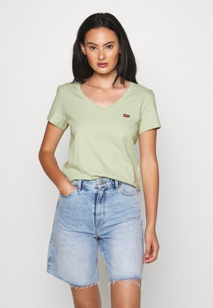 PERFECT VNECK - Jednoduché triko - greens