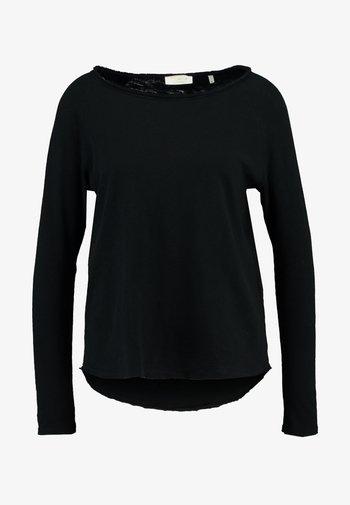 HEAVY LONGSLEEVE - Long sleeved top - black