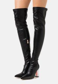 BEBO - BRIANA - Boots med høye hæler - black - 0